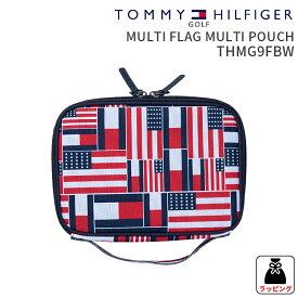 トミーヒルフィガーゴルフ マルチポーチMULTI FLAG MULTI POUCH THMG9FBWマルチフラッグマルチポーチ 2019FWファスナーポーチ ファスナー付き ベルト通しゴルフ用品 ギフト 贈り物