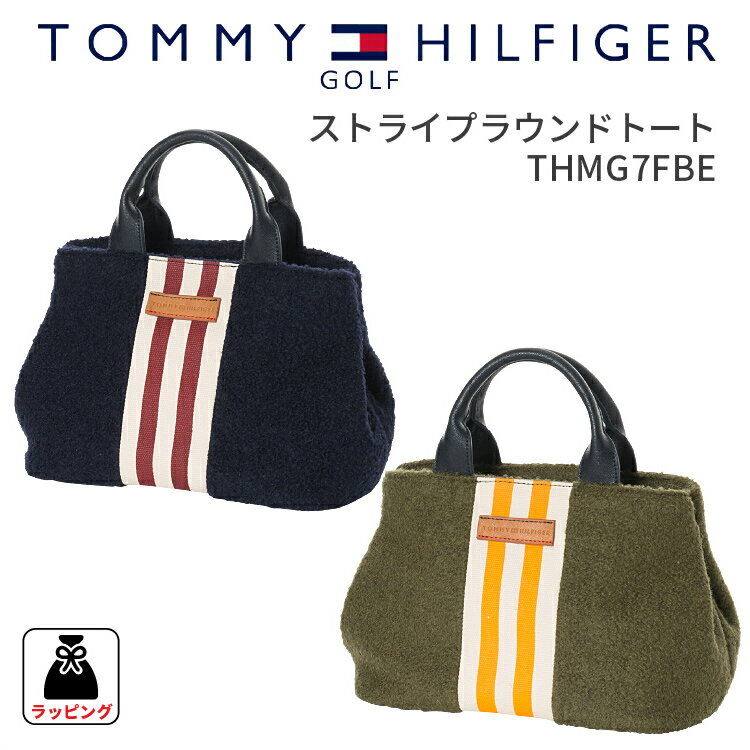 トートバッグ トミーヒルフィガーゴルフストライプラウンドトートバッグTOMMY HILFIGER GOLF THMG7FBEトートバッグ かばん 鞄 bag ミニトートギフト プレゼント