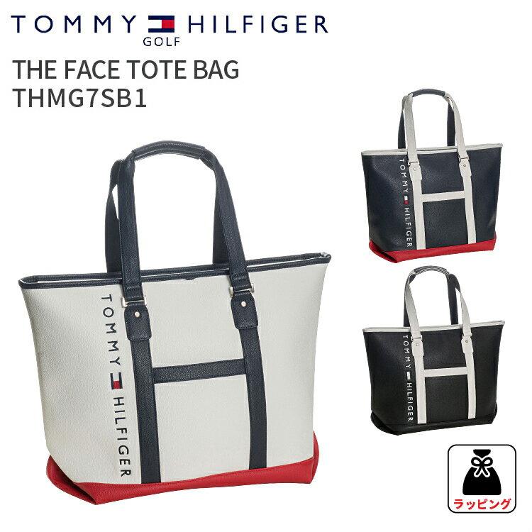 トートバッグ トミーヒルフィガー ゴルフフェーストートバックTHE FACE TOTE BAG THMG7SB1TOMMY HILFIGER GOLFトートバック 合皮 鞄 A4対応ホワイト ネイビー ブラック