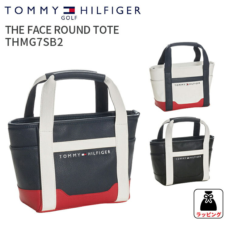 ラウンドトートバッグ トミーヒルフィガー ゴルフフェースラウンドトートバックTHE FACE ROUND TOTE BAG THMG7SB2TOMMY HILFIGER GOLF ミニトートバック 合皮 鞄ギフト プレゼント