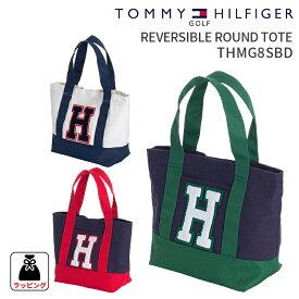 トミーヒルフィガーゴルフ リバーシブルラウンドトートバックREVERSIBLE ROUND TOTE THMG8SBDTOMMY HILFIGER GOLF トートバック 鞄ギフト プレゼント ラウンド小物