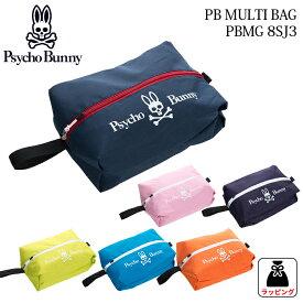 マルチバッグ サイコバニー ポーチPB MULTI BAG PBMG8SJ32018年春夏 Psycho Bunny PBMG-8SJ3マルチポーチ ラウンド小物収納