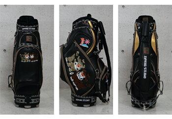 キャディバッグ復刻版ジパングスタジオカートキャディバッグシーサーブラックホワイトレッドブルーZIPANGSTUDIO/琉球ゴルフZSCB-81カート9型数量限定オリジナル商品