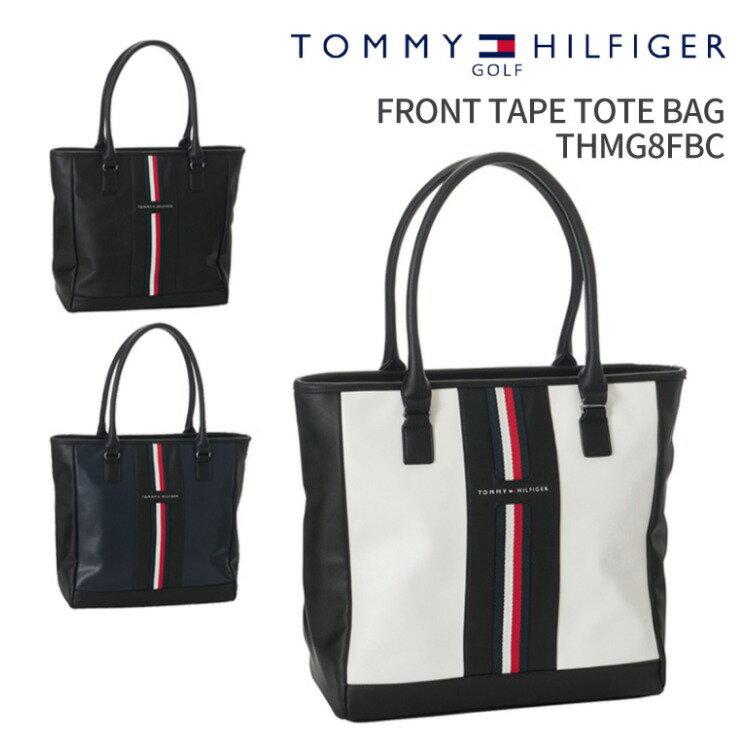 トミーヒルフィガーゴルフ FRONT TAPE TOTE BAG THMG8FBC2018年秋冬モデルTOMMY HILFIGER GOLFフロントテープトートバッグファスナートート ファスナー付きトートラウンドバッグ ゴルフ用品 ギフトビジネスバッグ A4トート