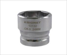 SIGNET 13132 1/2DR 24mm ショートソケット (6角)