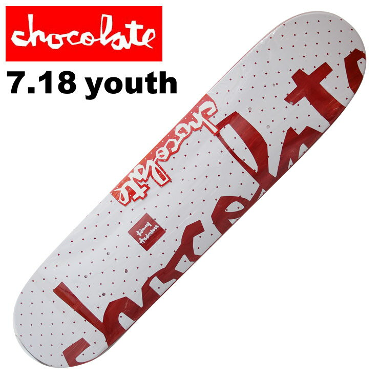 CHOCOLATE DECK チョコレート スケートボード FLOATER K.アンダーソン デッキ 7.18 CHD-520 ジュニア・KIDS SKATEBOARD 【クエストン】