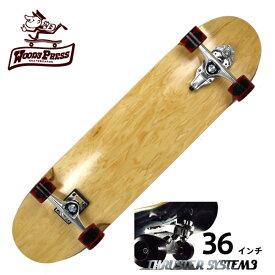 【お買い得】WOODY PRESS ウッディプレス サーフスケート スラスター3 コンプリート 36インチ NATURAL ロングスケボー スケートボード ロンスケ カービング 【クエストン】