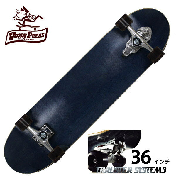 WOODY PRESS ウッディプレス サーフスケート スラスター3 コンプリート 36インチ BLUE WPC-004 ロングスケボー スケートボード カーバー ロンスケ グラビティー 【クエストン】