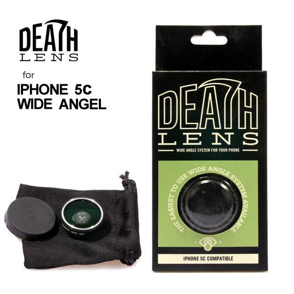 DEATH LENS/デスレンズ ワイドレンズ iPhone5c用 WIDE LENS GREEN GRY BOX 広角 カメラレンズ セルカレンズ 自撮り スマートフォン対応 【クエストン】