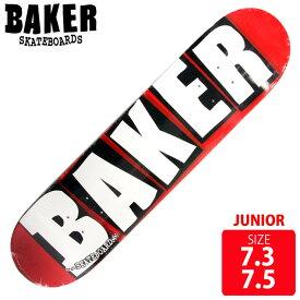 BAKER ベイカー ジュニア デッキ LOGO WHITE MINI 7.3-7.5 BAD-254 キッズ スケートボード スケボー