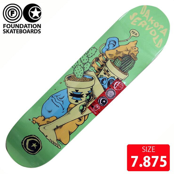FOUNDATION ファンデーション デッキ SERVOLD JUMBLE DECK 7.875 FAD-153 スケボー skateboard 【クエストン】