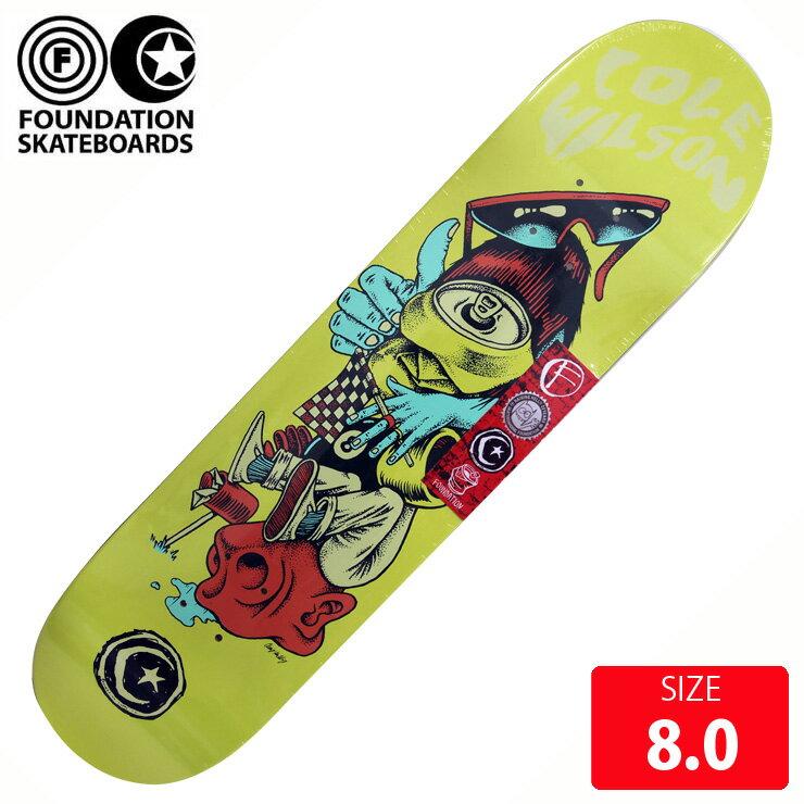 FOUNDATION ファンデーション デッキ WILSON JUMBLE DECK 8.0 FAD-154 スケボー skateboard 【クエストン】
