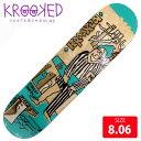 KROOKED クルーキッド デッキ ANDERSON HOODLUM FULL SHAPE 8.06 KKD-268 スケートボード SKATEBOARD クルキッド