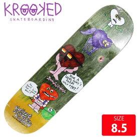 KROOKED クルーキッド デッキRONNIE SANDOVAL DECK 8.5 KKD-289 スケートボード SKATEBOARD クルキッド