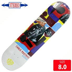 STEREO ステレオ デッキ Pastras HORNS by Charlie Coatney Rahsaan DECK 8.0 SRD-030 スケートボード skateboard 【クエストン】