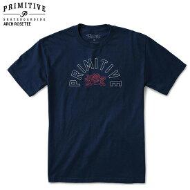 PRIMITIVE プリミティブ Tシャツ ARCH ROSE TEE NAVY スケボー ウェアー 18SS