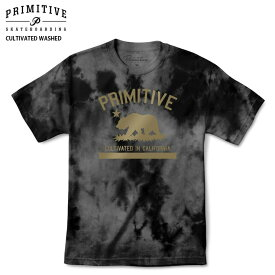 PRIMITIVE プリミティブ Tシャツ CULTIVATED WASHED TEE L/BLACK WASH スケボー ウェアー 18SS