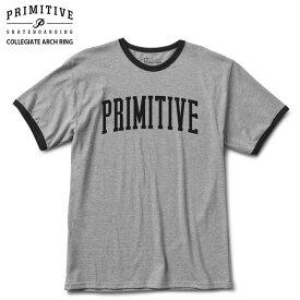 PRIMITIVE プリミティブ Tシャツ COLLEGIATE ARCH RING ARTH HEATHER スケボー ウェアー 18SS