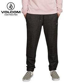 【在庫処分】VOLCOM ボルコム メンズ スウェットパンツ Coder Fleece Pant BLK 2018FW 【クエストン】