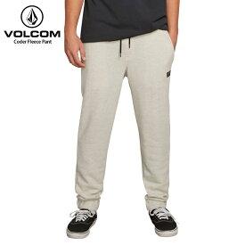 【在庫処分】VOLCOM ボルコム メンズ スウェットパンツ Coder Fleece Pant GRY 2018FW 【クエストン】