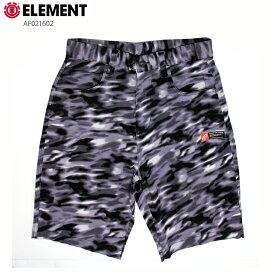 ELEMENT エレメント メンズ ハーフパンツ AF021602 BLK ウォークショーツ ストレッチ 短パン