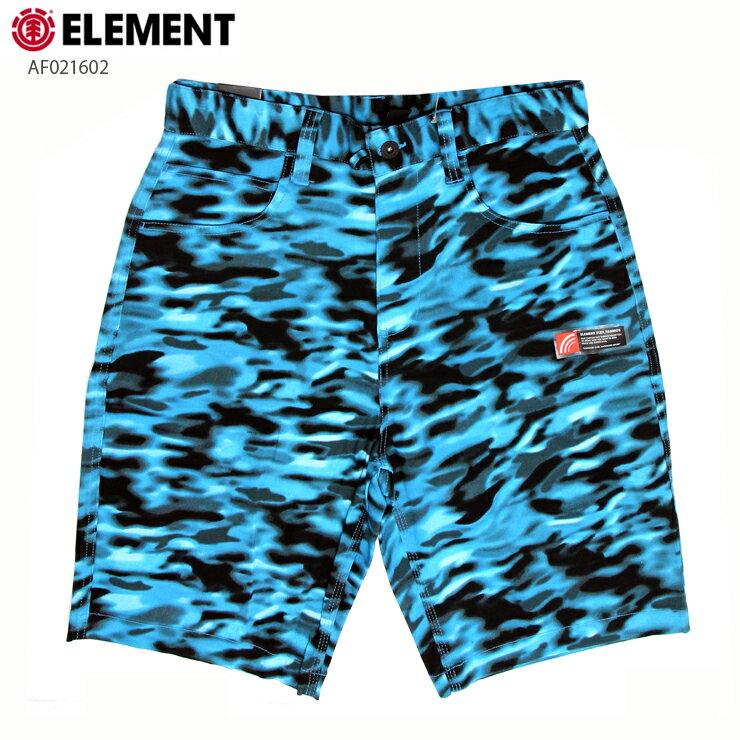 ELEMENT エレメント メンズ ハーフパンツ AF021602 BLU ウォークショーツ ストレッチ 短パン