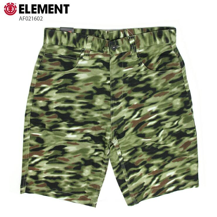 ELEMENT エレメント メンズ ハーフパンツ AF021602 BRN ウォークショーツ ストレッチ 短パン