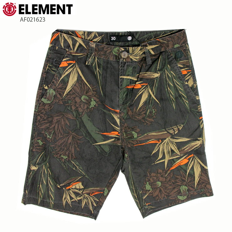 ELEMENT エレメント メンズ ハーフパンツ AF021623 BLK ウォークショーツ 短パン
