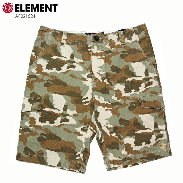 ELEMENT エレメント メンズ カーゴショーツ AF021624 LKH ウォークショーツ 短パン カモフラ