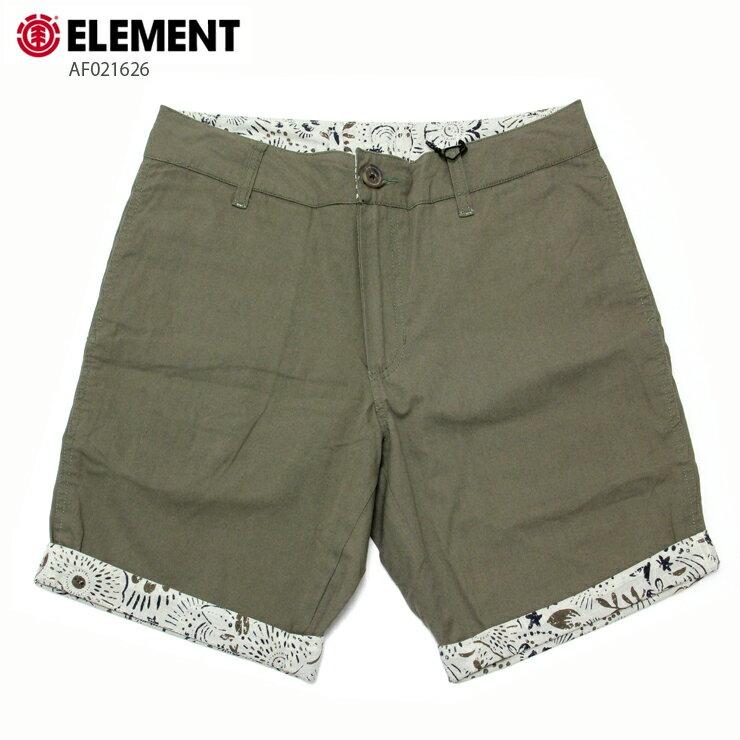 ELEMENT エレメント メンズ ショーツ AF021626 GRN ウォークショーツ 短パン