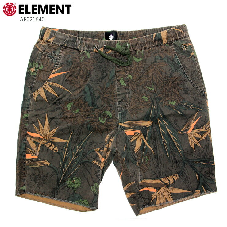 ELEMENT エレメント メンズ ショーツ AF021640 BLK ウォークショーツ 短パン