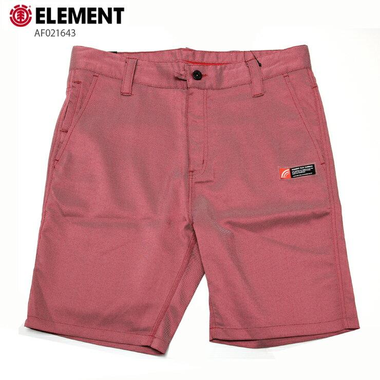 ELEMENT エレメント メンズ ショーツ AF021643 RED ストレッチ ウォークショーツ 水陸両用 短パン