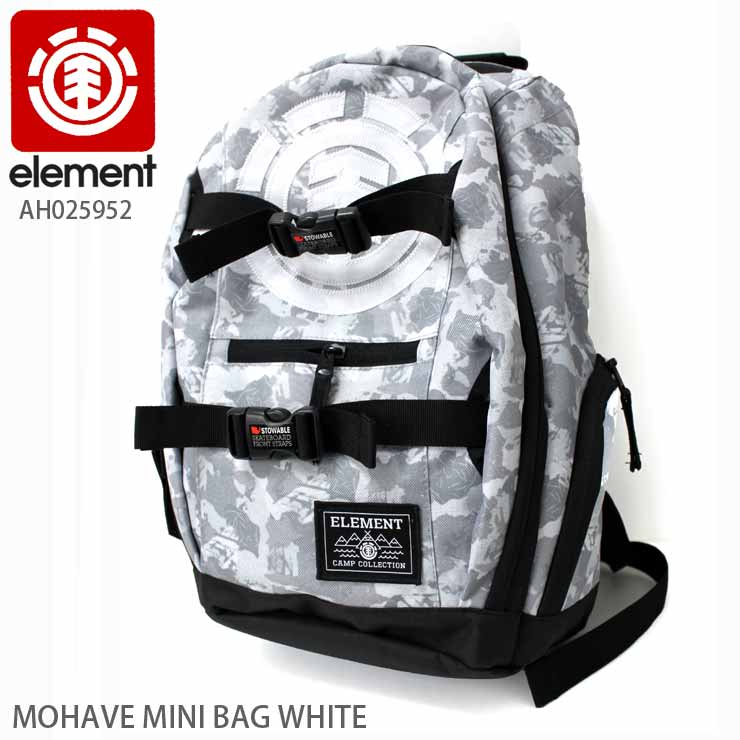 ELEMENT エレメント スケート バッグ ミニ カバン BAG MOHAVE MINI BAG WHITE SKATE スケーター
