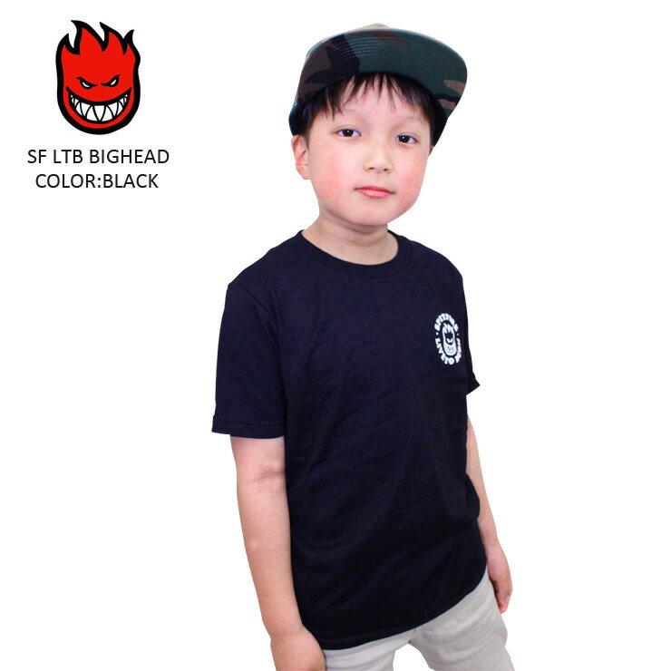 SPITFIRE スピットファイア スピットファイヤー スケート Tシャツ SF LTB BIGHEAD BLACK SKATE TEE スケーター キッズ ユース