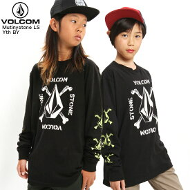 VOLCOM ボルコム キッズ 長袖Tシャツ Mutinystone LS T Yth BY BLK 【クエストン】