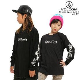 VOLCOM ボルコム キッズ 長袖Tシャツ Stone Spew L/S T Yth BY BLK 【クエストン】