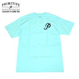 PRIMITIVE プリミティブ Tシャツ CLASSIC P CORE TEE SEA FOAM スケボー ウェアー 2018FW PR18FT10