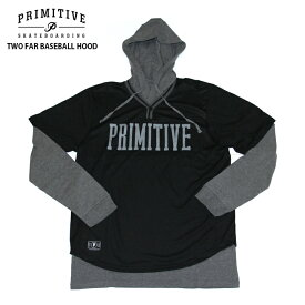 PRIMITIVE プリミティブ パーカー TWO FAR BASEBALL HOOD BLACK フード スウェット パーカー PR18FU03 2018FW