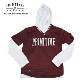 PRIMITIVE プリミティブ パーカー TWO FAR BASEBALL HOOD BURGUNDY フード スウェット パーカー PR18FU03 2018FW