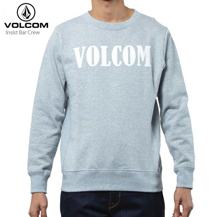 VOLCOM ボルコム トレーナー メンズ フリース クルー Insist Bar Crew HGR トップス