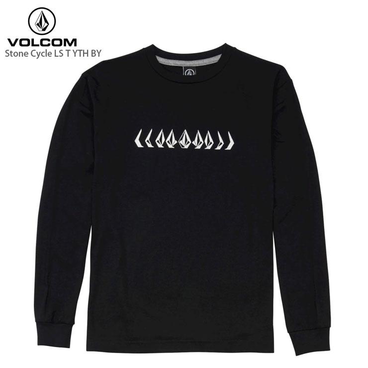 VOLCOM ボルコム ジュニア ロングスリーブTシャツ Stone Cycle LS T YTH BY Tee Youth BLK 長袖