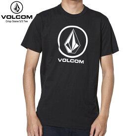 VOLCOM ボルコム メンズ Tシャツ CRIPST STONE S/S TEE BLACK 【クエストン】