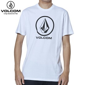 VOLCOM ボルコム メンズ Tシャツ CRIPST STONE S/S TEE WHITE 【クエストン】