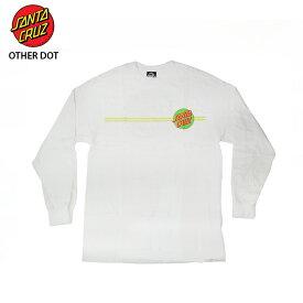 【お買い得】 【在庫処分】SANTA CRUZ サンタクルズ Tシャツ OTHER DOT L/S WHT/NGRN メンズ 【クエストン】