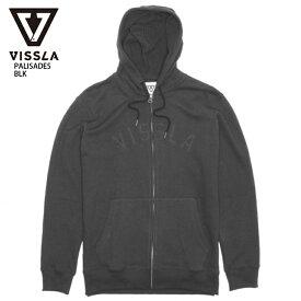 【在庫処分】VISSLA ヴィスラ トレーナー PALISADES BLK スウェット パーカー 18FW