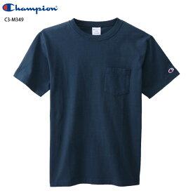CHAMPION チャンピオン ベーシック 半袖 ポケットTシャツ C3-M349 370/ネイビー 19SS