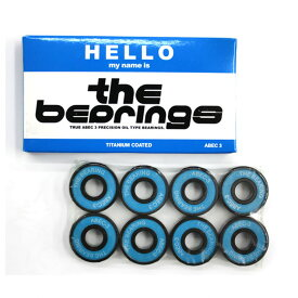 スケボー スケートボード ベアリング HELLO ハロー THE BEARING ザ ベアリング ABEC3 OIL TYPE GLB003【クエストン】