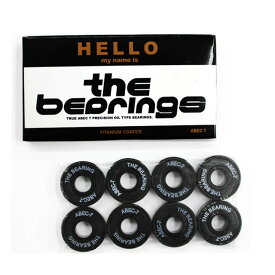 スケボー スケートボード ベアリング HELLO ハロー THE BEARING ザ ベアリング ABEC7 OIL TYPE GLB005【クエストン】