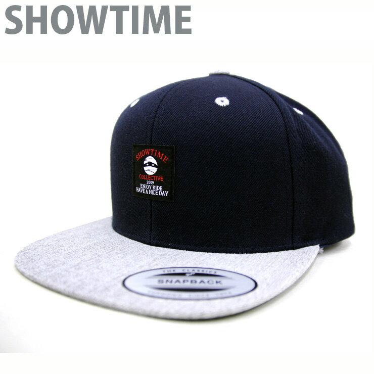 SHOWTIME ショータイム キャップ・ハット FLAT VISOR ベースボールキャップ ダークネイビー/シルバー 【クエストン】