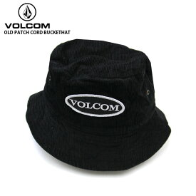 VOLCOM ボルコム メンズ キャップ OLD PATCH CORD BUCKETHAT BLK 帽子 【クエストン】